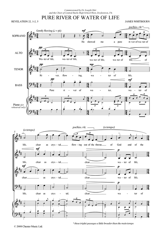 Pure River Of Water Of Life Sheet Music