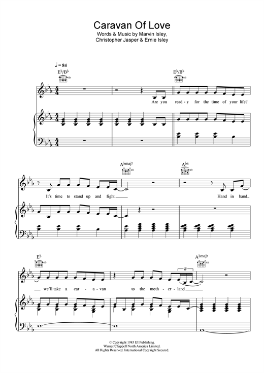 Caravan Of Love Sheet Music