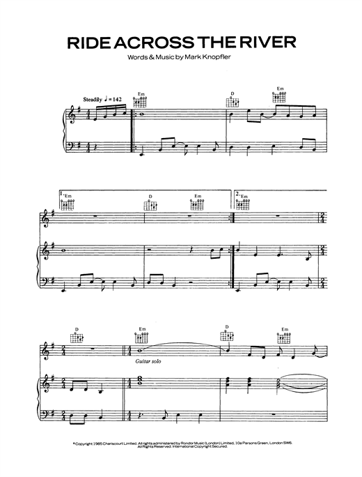 Ride Across The River Sheet Music