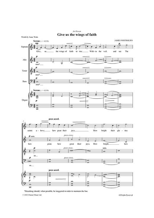 Give Us The Wings Of Faith Sheet Music