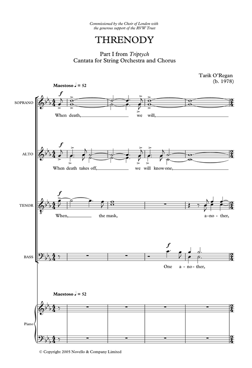 Threnody Sheet Music