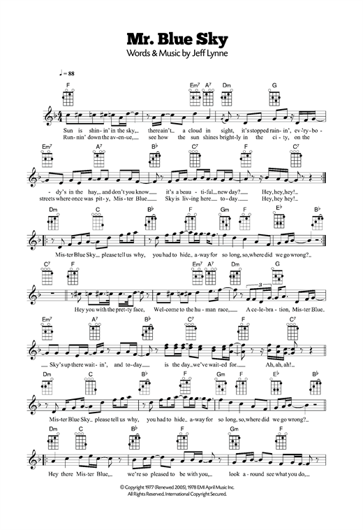 Mr. Blue Sky Sheet Music