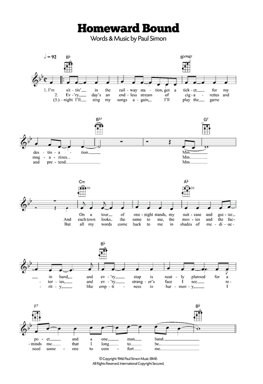 Homeward Bound Sheet Music