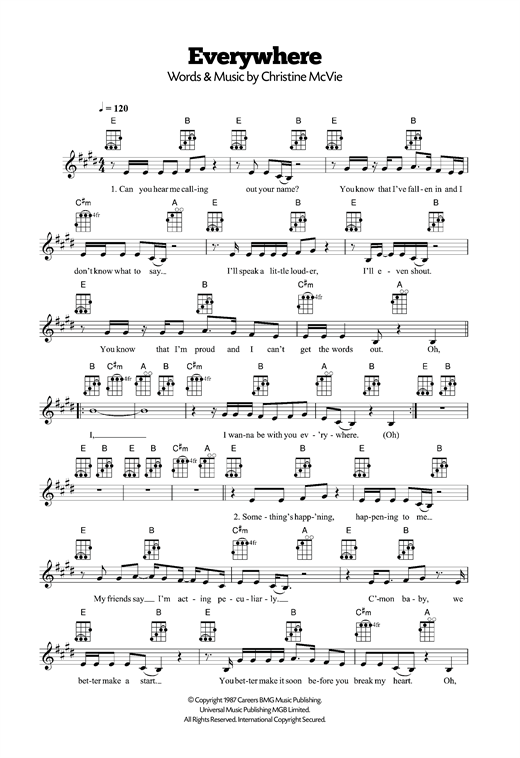 Everywhere Sheet Music