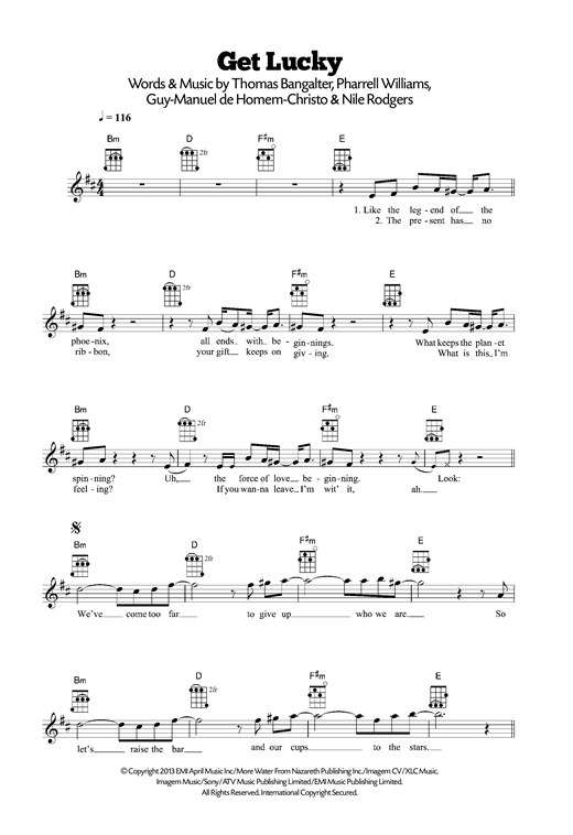 page one of Get Lucky (feat. Pharrell Williams)ASALTTEXT