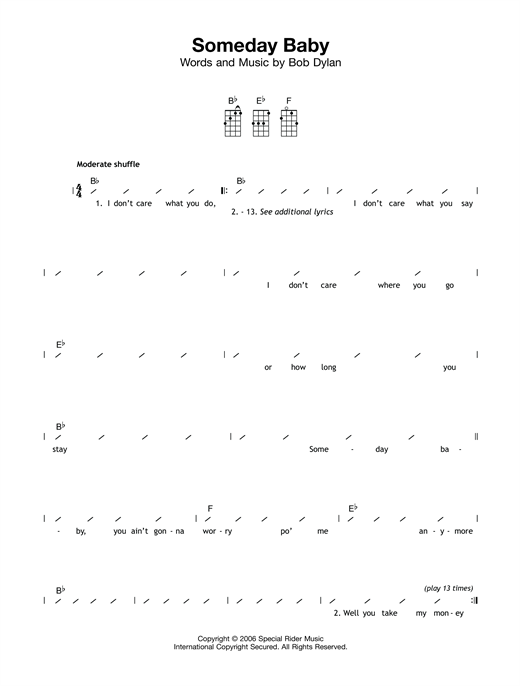 Someday Baby Sheet Music