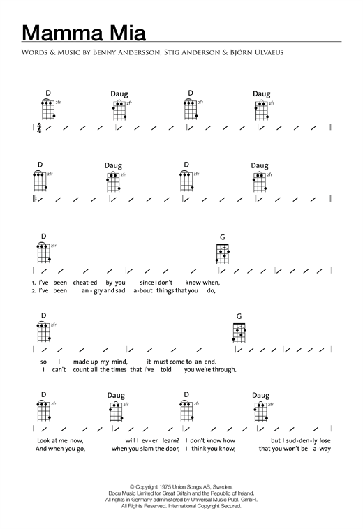 page one of Mamma MiaASALTTEXT