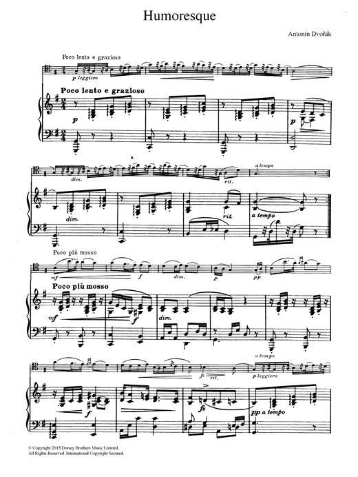 Humoresque Sheet Music