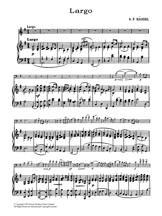 Largo In G Sheet Music