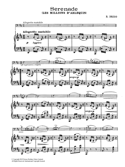 Serenade (From Millions D'Arlequin) Sheet Music