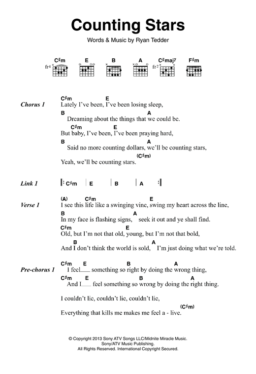 page one of Counting StarsASALTTEXT