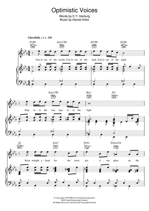 Optimistic Voices Sheet Music