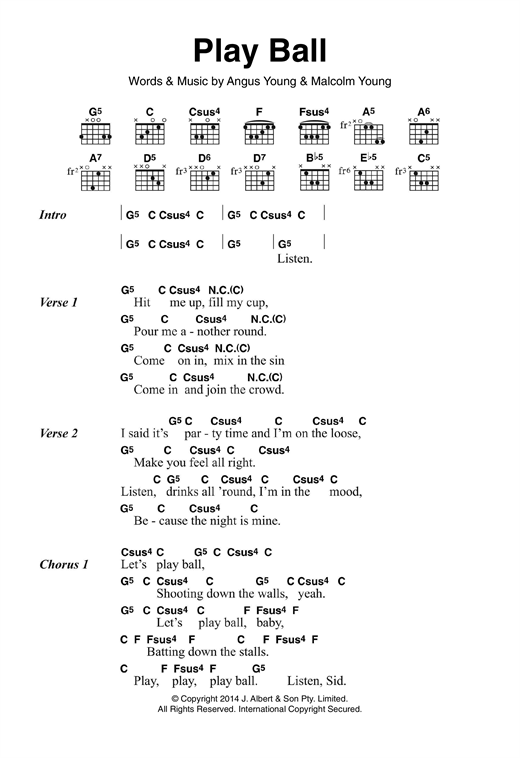Play Ball Sheet Music