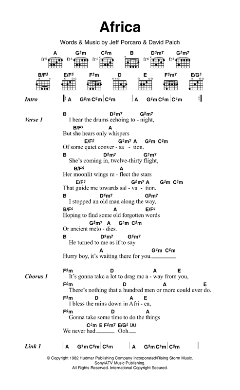 American pie guitar chords