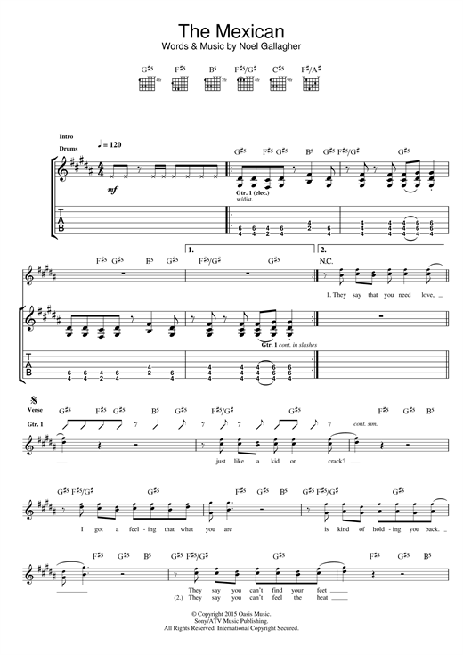 The Mexican Sheet Music