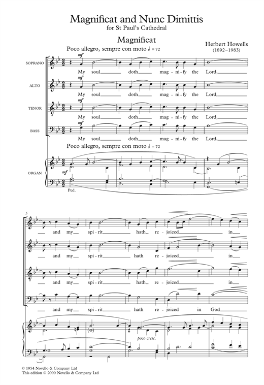 The St. Paul's Cathedral Magnificat And Nunc Dimittis Sheet Music