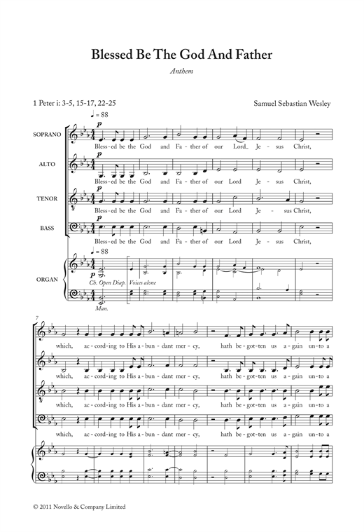 Blessed Be The God And Father Sheet Music