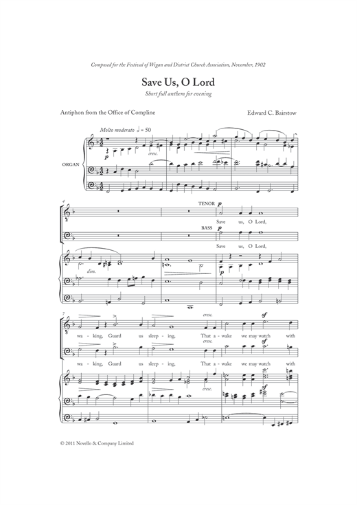 Partition chorale Save Us, O Lord de  - SATB
