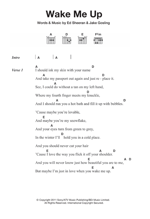 wake me up music analysis Share, download and print free sheet music for piano, guitar, flute and more on the world's largest community of sheet music creators this is my big band arrangement of george michael's song, wake me up before you go-go this song is very fast, upbeat, entergetic, and catchy.