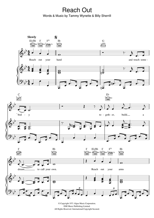 Reach Out Your Hand Sheet Music