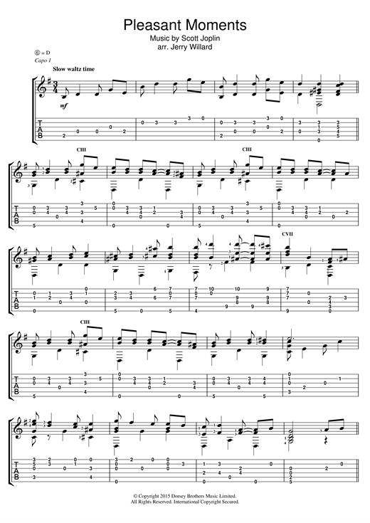 Pleasant Moments Sheet Music