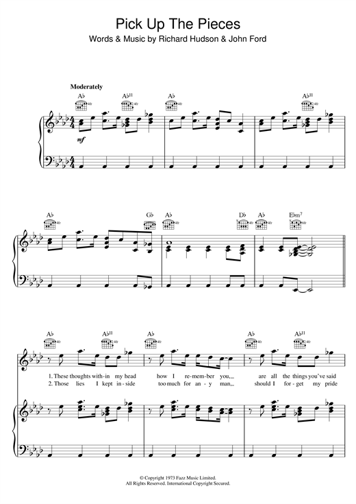 Pick Up The Pieces Sheet Music