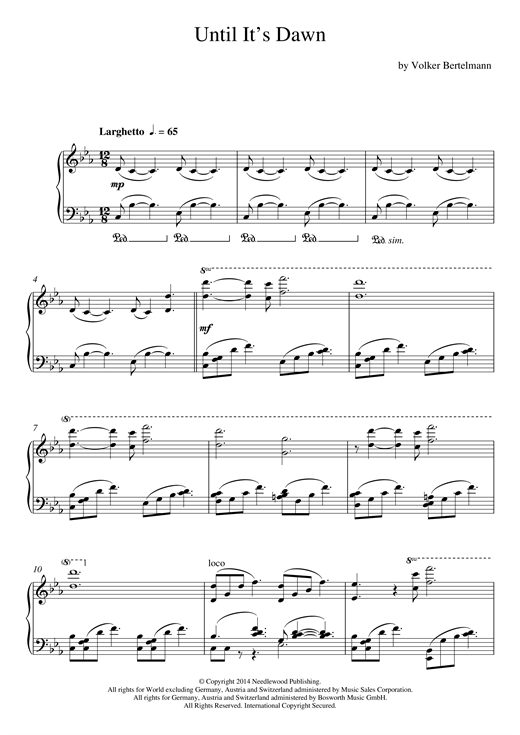 Until It's Dawn Sheet Music
