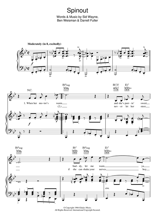 Spinout Sheet Music