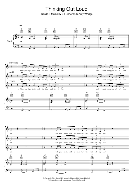 Thinking Out Loud (arr. Mark De-Lisser) Sheet Music