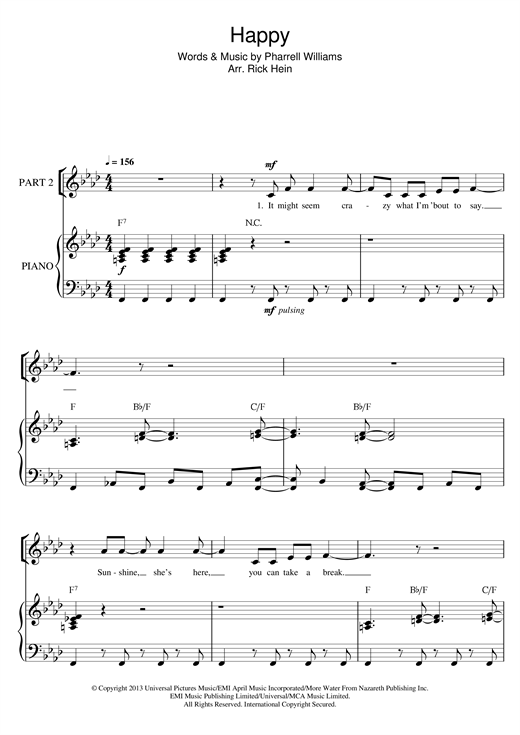 Happy (arr. Rick Hein) Sheet Music