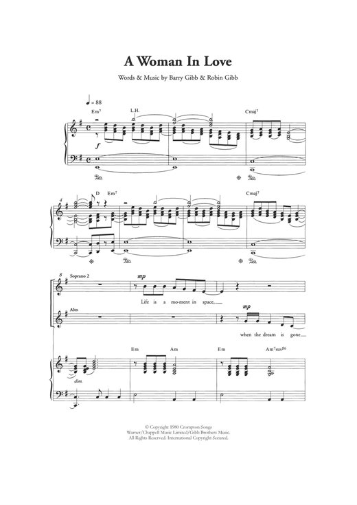 A Woman In Love (arr. Berty Rice) Sheet Music