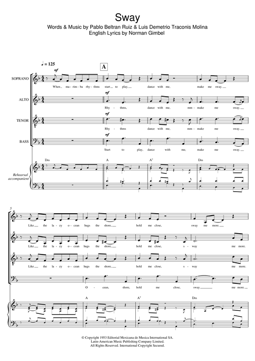 page one of Sway (Quien Sera) (arr. Gitika Partington)ASALTTEXT