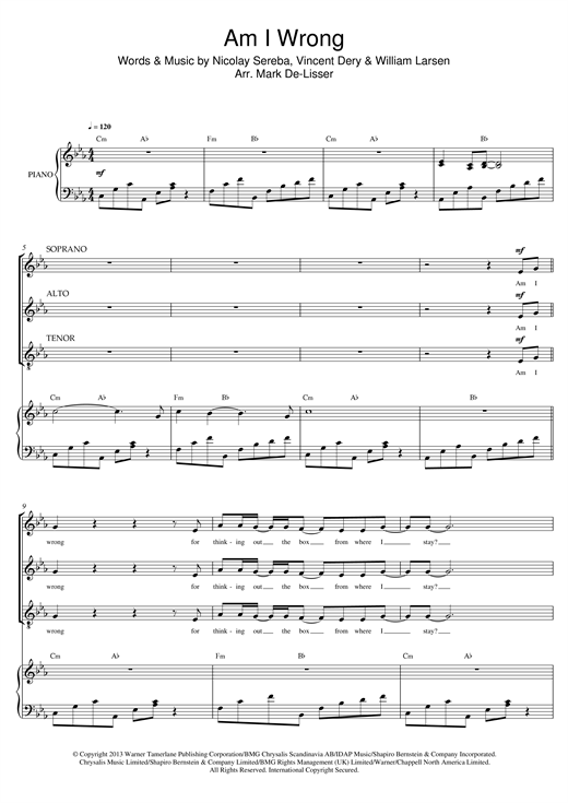 Am I Wrong (arr. Mark De-Lisser) Sheet Music