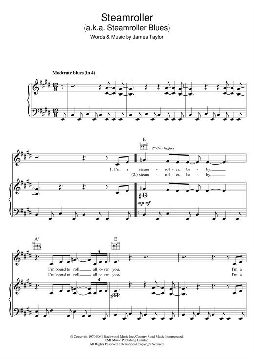 Steamroller Sheet Music