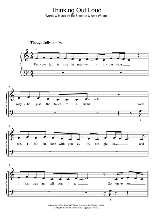 Guitar : guitar tabs thinking out loud Guitar Tabs Thinking also ...