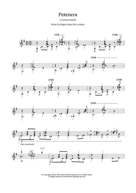 Petenera Sheet Music