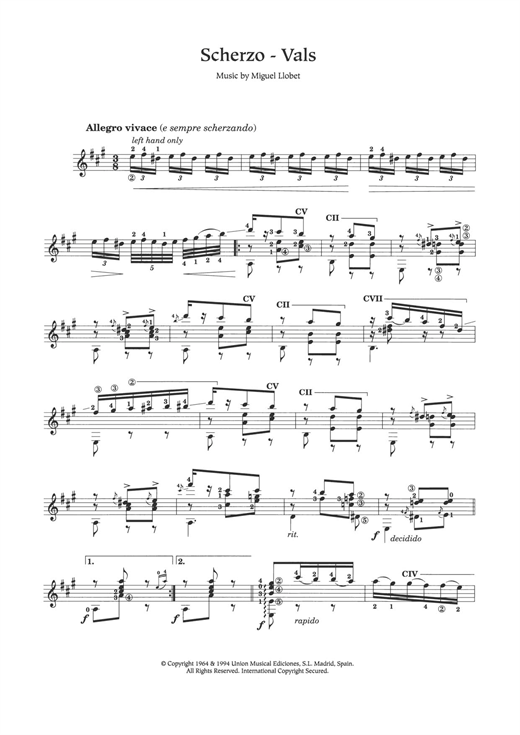 Scherzo-Vals Sheet Music