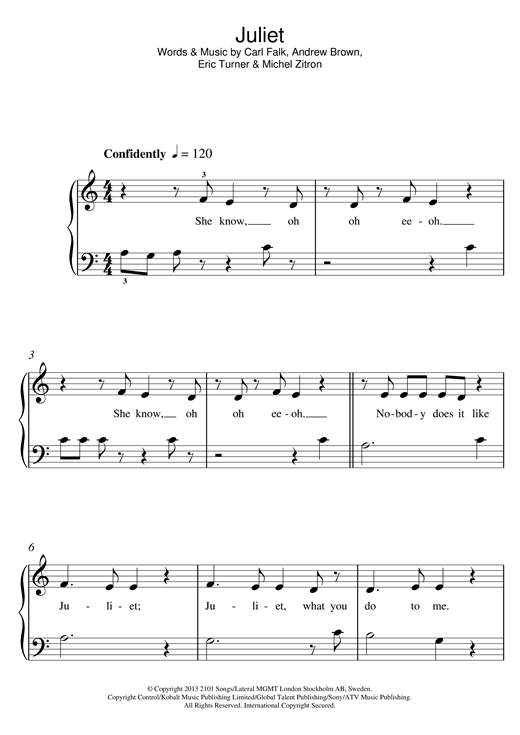 Juliet Sheet Music