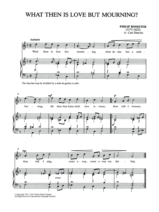 What Then Is Love But Mourning? Sheet Music