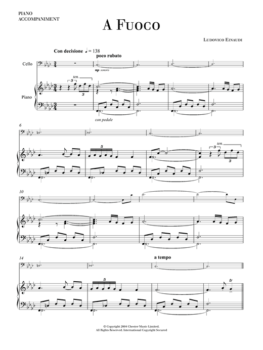 A Fuoco Sheet Music