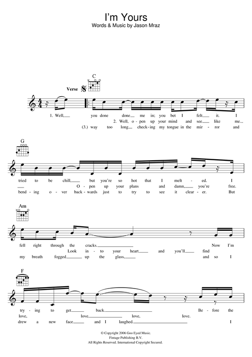 Ukulele ukulele tabs jason mraz : Ukulele : ukulele chords for im yours Ukulele Chords For and ...