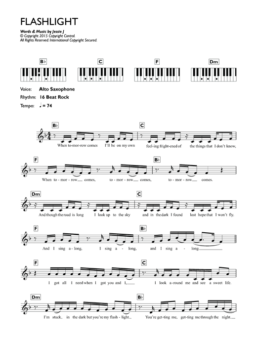 Flashlight (from Pitch Perfect 2) Sheet Music