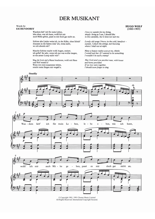 Der Musikant Sheet Music