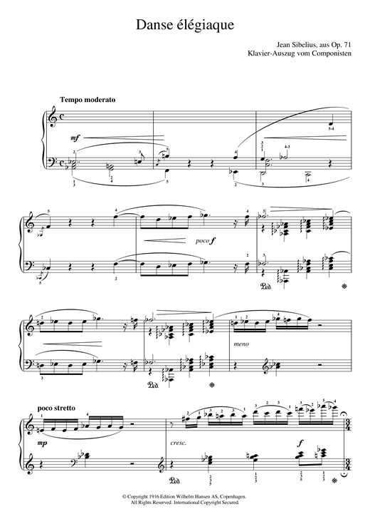 Danse Élégiaque (From Scaramouche, Op.71) Sheet Music