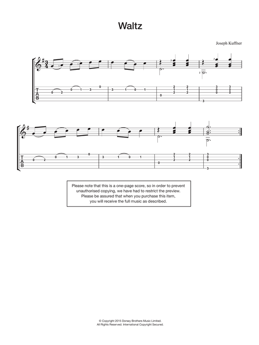 Waltz Sheet Music