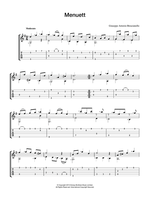 Menuett Sheet Music