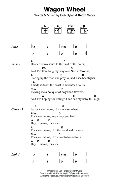 Violin wagon wheel violin tabs : Banjo : banjo tablature for wagon wheel Banjo Tablature For Wagon ...