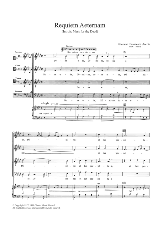 Requiem Aeternam Sheet Music