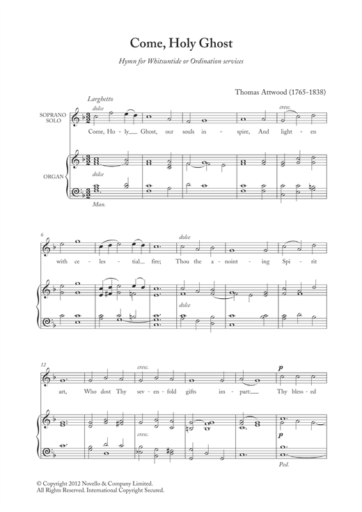 Come, Holy Ghost Sheet Music