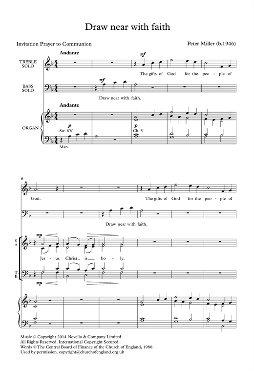 Draw Near With Faith Sheet Music
